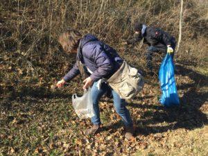 Einzeln gemeinsam aktiv: Müllsammel-Aktion an der Schrote @ Parkplatz der Sparkasse in der Goethestraße